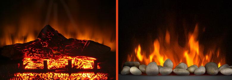 imitacion de fuego real